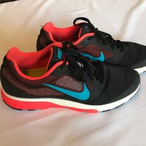 Women's Neon and Black Nike Zoom Fly 2 Size 9